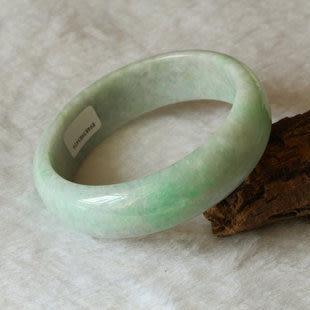 翡翠玉手鐲翹陽綠寬版