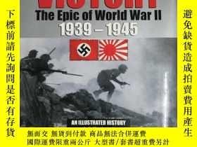 二手書博民逛書店世界大戰的勝利史詩2(精裝版,銅版紙印刷,英文書)victory罕見the epic of world wa