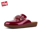 超值魅力精選特惠【FitFlop】SERENE DECO PATENT MULES 無後跟時尚穆勒鞋(火焰紅)