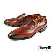 【Marelli】質感手工樂福紳士鞋 酒紅(M3003-WIN)