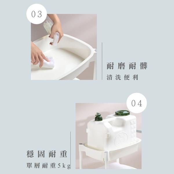 【巴比倫三層置物推車】收納櫃 置物架 廚房 置物推車 收納架 滾輪式 台灣製造 AT83 [百貨通]