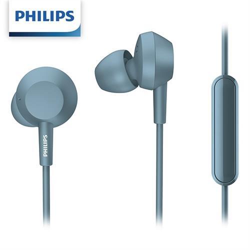 PHILIPS飛利浦 TAE4105BL 入耳式耳麥 (藍色)