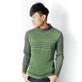 JUN 綠黑條紋毛衣