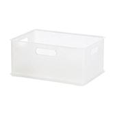 日本 Sanka squ+ 可堆疊收納盒 透明色 S尺寸 型號NIB-SCL 不含上蓋