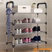 簡易鞋架子家用門口寢室鞋柜收納經濟型防塵多層超級品牌【桃子居家】