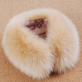 雙12 假領子  秋冬皮草狐貍毛假領子羽絨服大衣大毛領子百搭