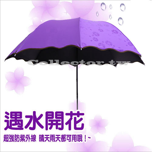 【超取299免運】遇水開花變色晴雨傘 防曬防紫外線~雨天變花色~美美晴天雨天必備款~