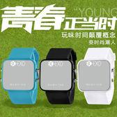 行星飯EXO時尚LED電子錶男錶夜光情侶錶果凍女錶韓國潮流學生手錶