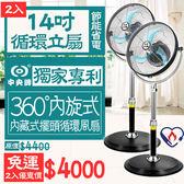 【狐狸跑跑】2入特惠組免運 台灣製中央牌 14吋專利內旋式循環立扇基本款 KZS-142S 電風扇 電扇