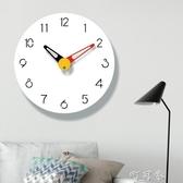 現代簡約臥室北歐石英鐘錶掛鐘客廳臥室藝術家用靜音時鐘創意時尚 町目家