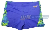 【山水網路商城】日本品牌 speedo 男人競技四角泳褲 Allover Curve Panel 藍 SD809196A827004