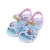 冰雪奇緣 鑽飾蝴蝶電燈涼鞋 水藍 FNKT04806 中大童鞋