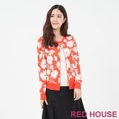 【RED HOUSE 蕾赫斯】花朵假兩件針織衫(共兩色)