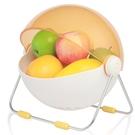 創意圓形帶蓋現代水果籃糖果色客廳裝飾果盤水果收納籃 萬客居