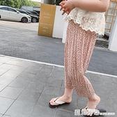 女童防蚊褲雪紡九分長褲子2021夏裝新款寶寶薄款寬鬆韓版兒童洋氣 蘇菲小店