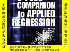 二手書博民逛書店An罕見R And S Plus Companion To Applied Regression-應用回歸的R和S