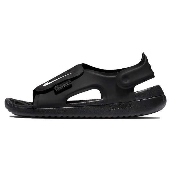 Nike Sunray Adjust 5 童鞋 中童 大童 涼鞋 包覆 防水 透氣 黑 【運動世界】 AJ9076-001