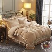 秋冬款加厚保暖水晶絨四件套珊瑚絨三件套法蘭絨被套學生棉絨床單JY