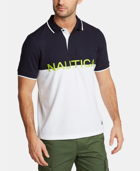 Nautica -Blue Sail系列經典Knockout款式馬球衫(深藍色)