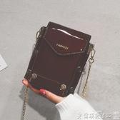 歡慶中華隊迷你包小包包女新款女包2019復古包漆皮斜背側背包迷你手機包潮