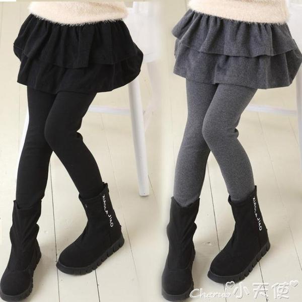 兒童褲裙女童打底褲冬裝女孩裙新款假兩件外穿褲子兒童褲裙 限時特惠