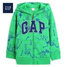 Gap男幼童 休閒長袖連帽衫休閒上衣Logo489452-翠綠