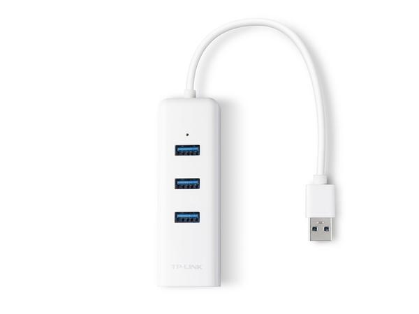 TP-LINK 3埠USB 3.0集線器與Gigabit USB網路卡 (UE330) 版本:2