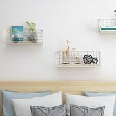 牆上置物架牆壁隔板臥室裝飾廚房木板衛生間免打孔鐵藝掛牆收納架 幸福第一站