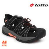 【LOTTO】女款休閒涼鞋-黑橘色(L6360)全方位跑步概念館
