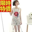 女款休閒褲吊帶-非凡流蘇設計簡約彈力造型女褲子2色59g48【巴黎精品】