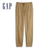 Gap女童工裝風格鬆緊腰休閒褲539933-薑糖色