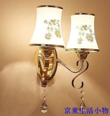 免運 新款LED水晶壁燈簡約現代中式床頭燈創意臥室書房燈樓梯過道燈具【不含光源】