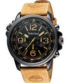 Timberland 叢林野戰時尚日曆腕錶-黑/45mm TBL.13910JSBU/02