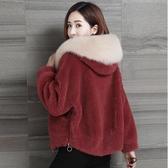 仿皮草外套女短款秋冬新款海寧加厚顆粒剪絨羊羔毛絨外套韓版 城市科技