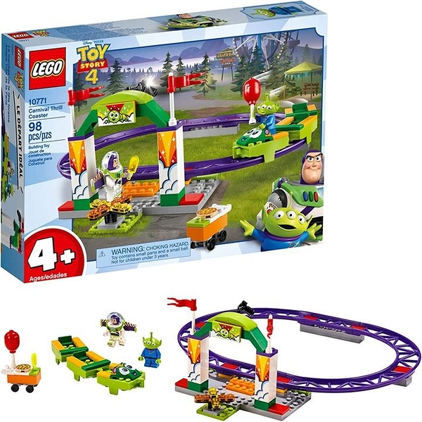 LEGO 樂高 Disney Pixars Toy Story 4 Carnival Thrill Coaster 10771 Building Kit (98 Pieces)