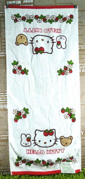 【震撼精品百貨】Hello Kitty 凱蒂貓~長毛巾~環保草莓