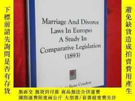 二手書博民逛書店Marriage罕見and Divorce Laws in Eu