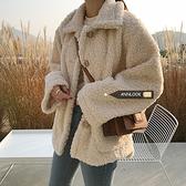 秋冬新款加厚棉服女寬鬆韓版羊羔毛外套女冬季學生毛絨絨棉衣