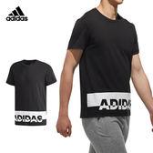 Adidas Gfx T Lng Puff 男 黑 短袖 運動上衣 短T 大學T 棉 毛圈棉衛衣 愛迪達 短袖T恤 CX4967