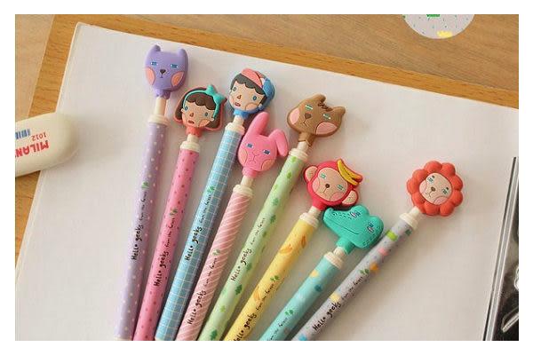 韓版原子筆 可愛動物原子筆/ 黑色0.5mm原子筆  想購了超級小物