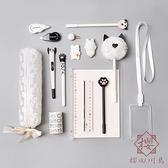 灰色系文具禮盒學生中性筆套裝女可愛學習【櫻田川島】