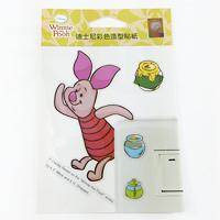 【收藏天地】迪士尼系列*裝飾貼紙-小豬(Piglet) 開關貼