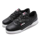 FILA 休閒鞋 J327T 黑 白 鞋面皮革 黑白 復古 小LOGO 男鞋 女鞋 運動鞋【PUMP306】 4J327T010