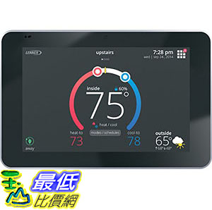 [107美國直購] 溫控器 Lennox 12U67 iComfort S30 Ultra Smart Programmable Thermostat, Geo-Fencing, Remote Access