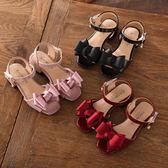 女童涼鞋2018新款韓版夏季 兒童時尚公主鞋 女孩中大童魚嘴高跟鞋 鉅惠