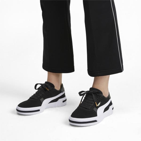 PUMA Cali Taped 女鞋 休閒 麂皮 基本 黑白 【運動世界】 37081903