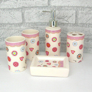 廚房衛浴 洗浴浴室五件套潔具 創意陶瓷衛浴 Y103