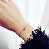 玫瑰金色桃心手?女歐美日韓版甜美簡約百搭飾品首飾學生手飾潮人 一次元