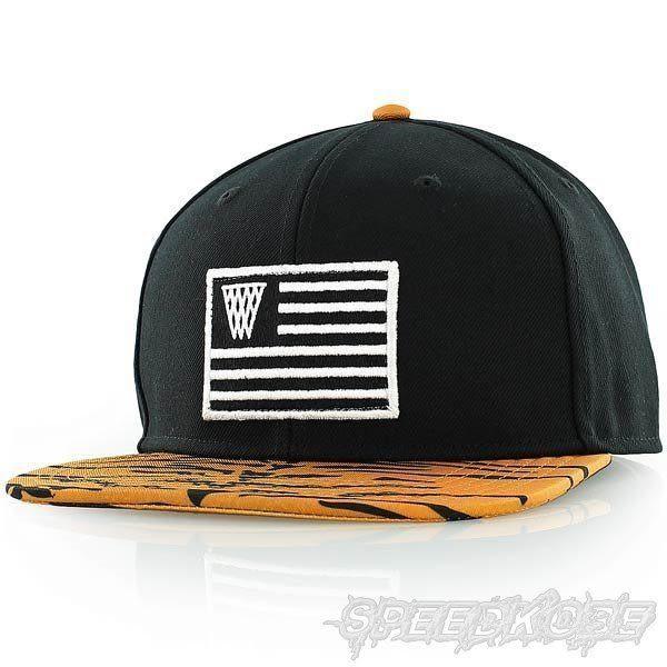 K1X 棒球帽 Snapback 嘻哈 國旗 虎紋 可調 黑 18000299-0942【Speedkobe】