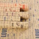 英文報紙復古包花紙